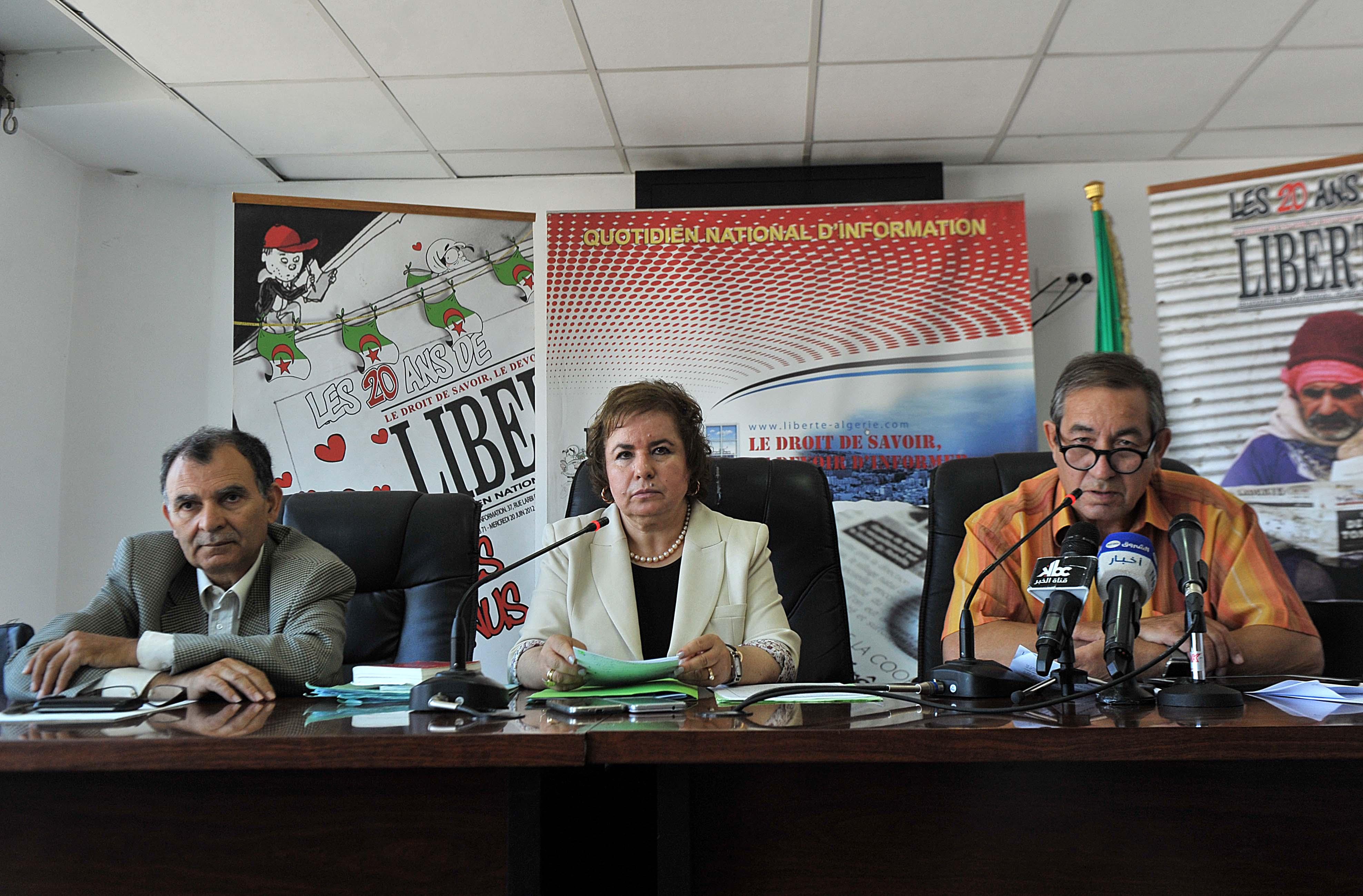 Conférence de presse des avocats d'El-Khabar, le 22 juin dernier. New Press