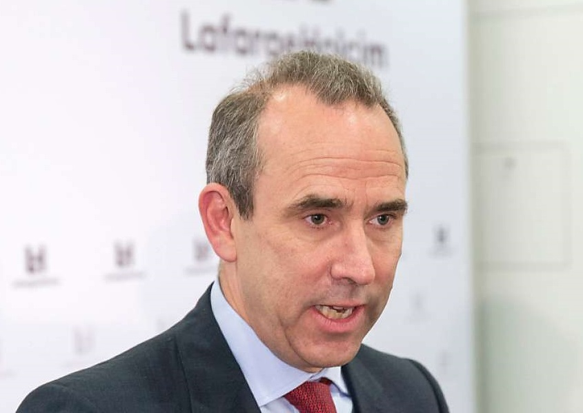 Eric Olsen, PDG de Lafarge. D. R.