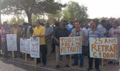Retraite : des travailleurs de Sonatrach protestent à Hassi R'mel