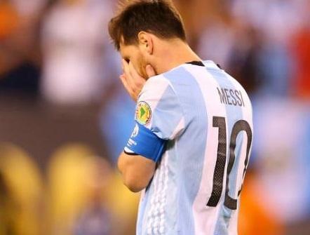 Lionel Messi après son tir au but raté en finale.