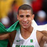 Le champion olympique algérien du 1500m, Taoufik Makhloufi. D. R.