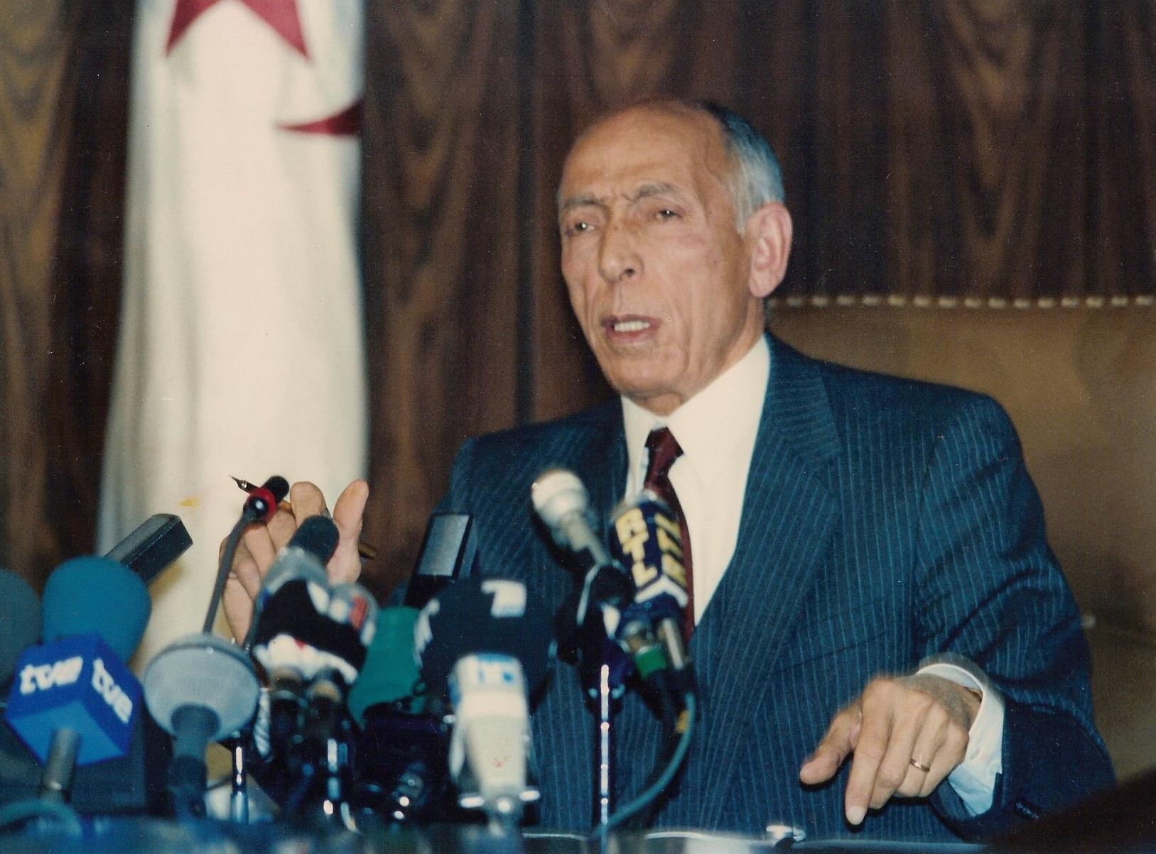 Le défunt Mohamed Boudiaf. D. R.