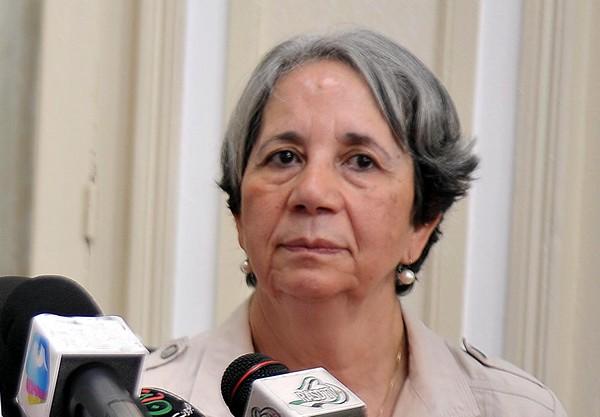 La présidente du Croissant-Rouge algérien, Mme Benhabylès. New Press