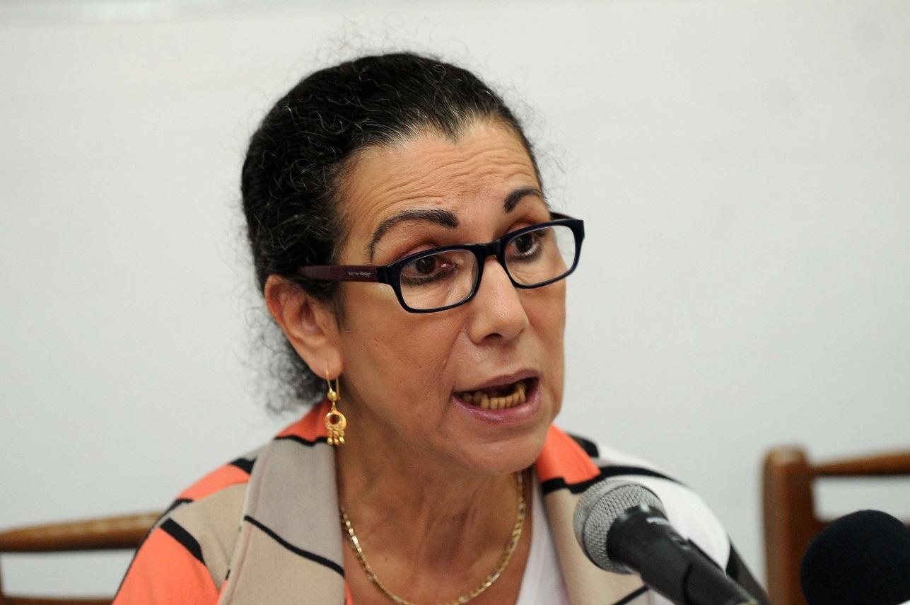 Louisa Hanoune, lors de sa conférence de presse de ce dimanche. New Press