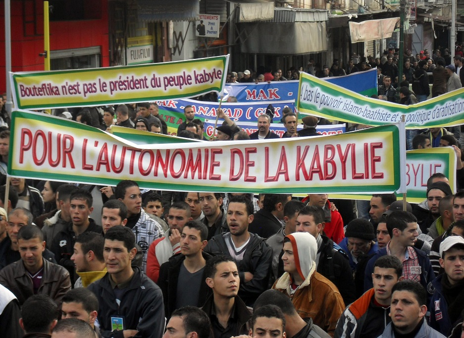 Manifestation du MAK à Tizi Ouzou. New Press