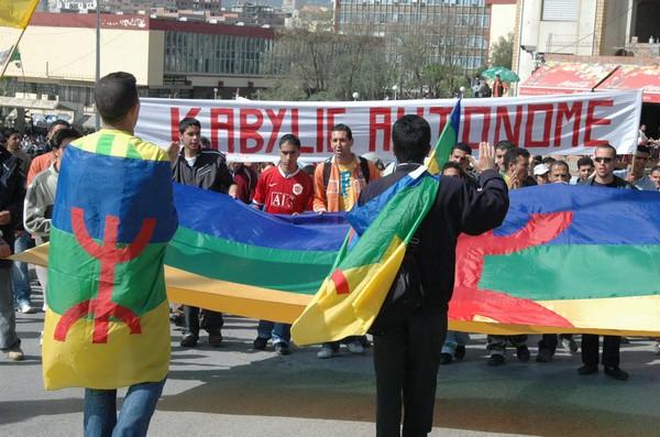 Manifestation du mouvement autonomiste MAK à Tizi Ouzou. Photo d'archives/New Press
