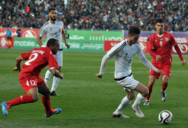 Phase de jeu Algérie-Palestine. New Press