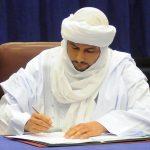La CMA lors de la signature de l'accord de paix d'Alger. New Press