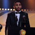 Mahrez lors du Ballon d'or algérien. New Press