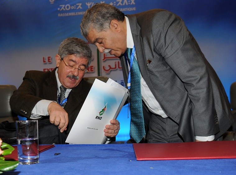 Ahmed Ouyahia et Miloud Chorfi. New Press