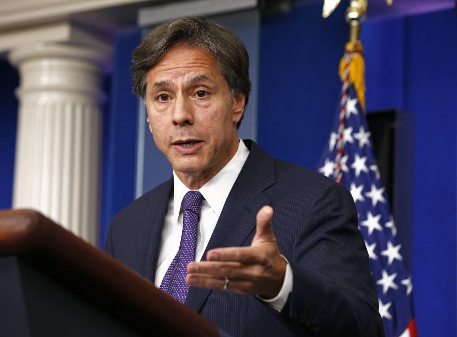 Le secrétaire d'Etat adjoint américain, Antony Blinken. D. R.