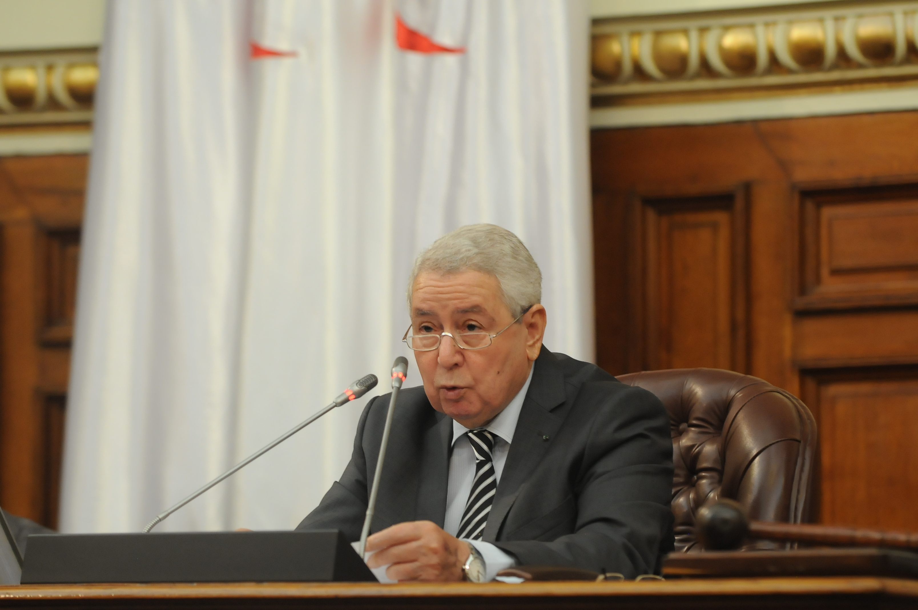 Abdelkader Bensalah, président du Conseil de la nation. New Press