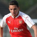 Le milieu de terrain d'Arsenal, Ismael Bennacer. D. R.