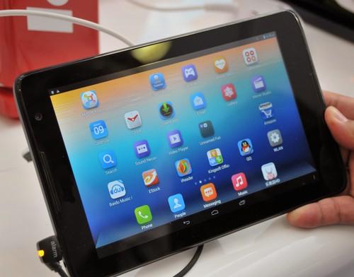 La tablette est disponible dans tous les espaces Ooredoo. D. R.