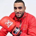 Le boxeur marocain, Hassan Saada. D. R.