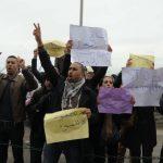 Des travailleurs manifestent contre la précarité de leur emploi. Archives/New Press