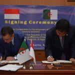 Signature du mémorandum, ce mardi à Jakarta. D. R.