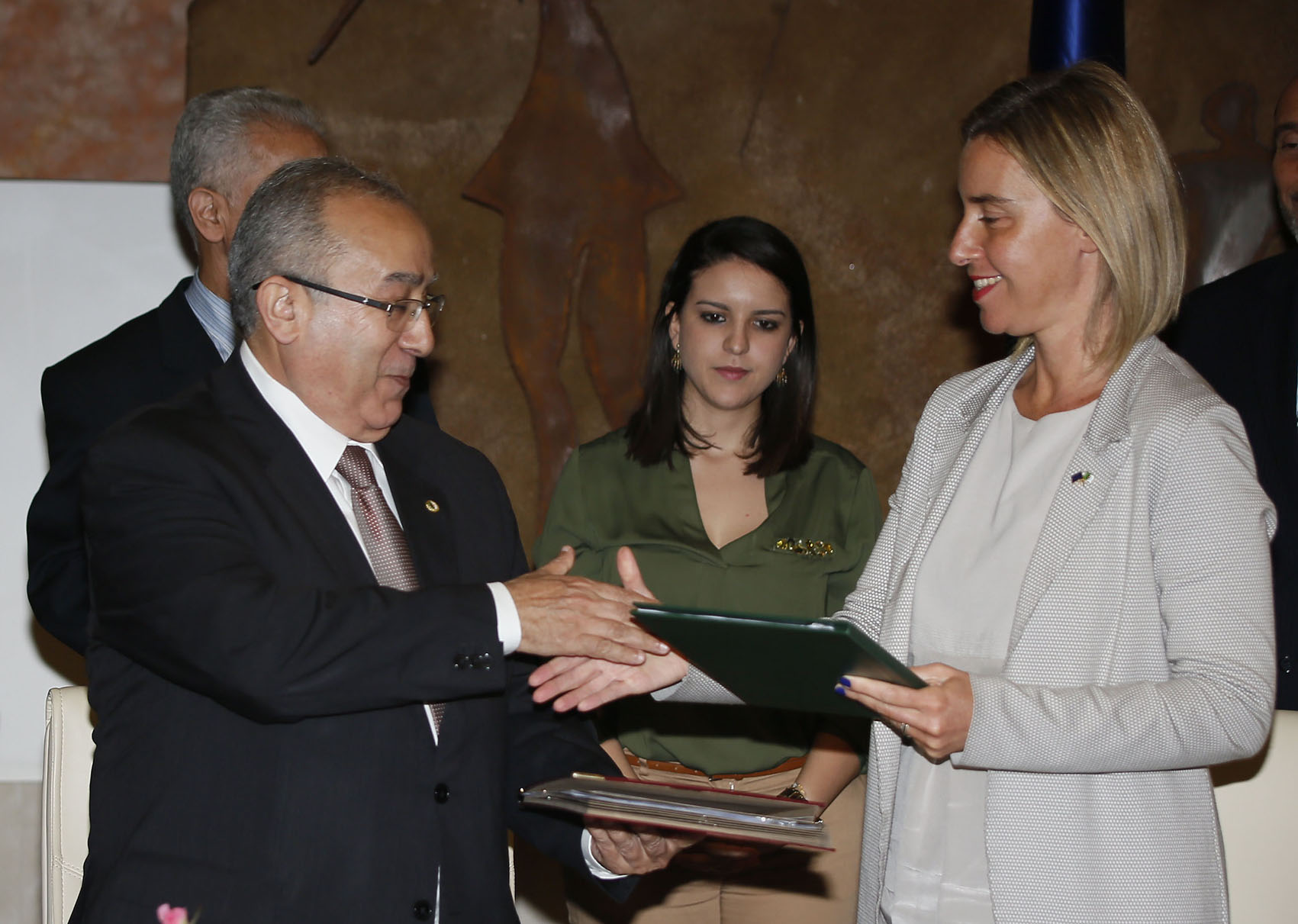 Ramtane Lamamra et Federica Mogherini. New Press