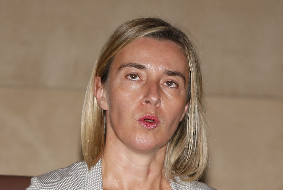 Federica Mogherini à Alger, en septembre 2015. New Press
