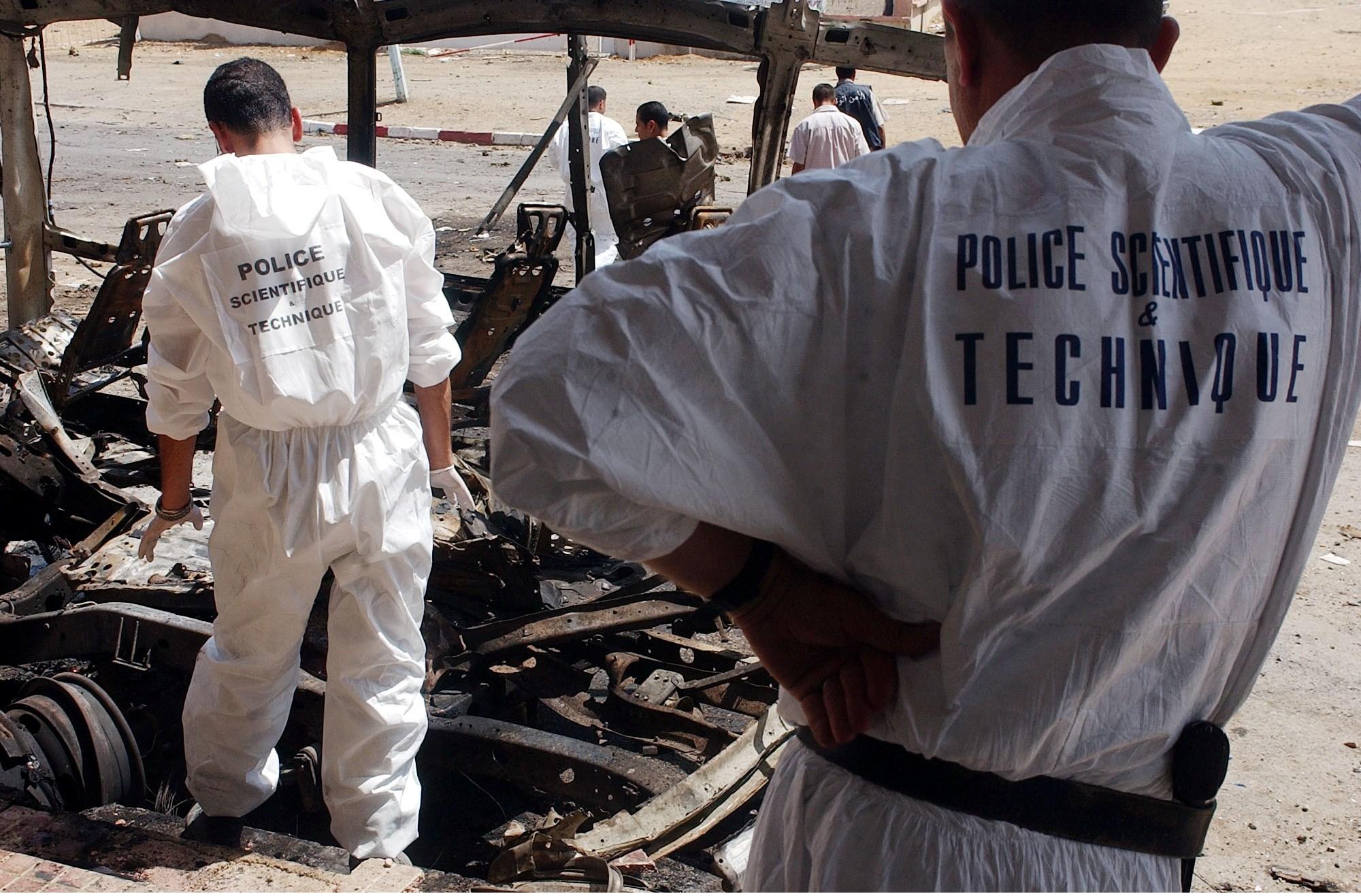 Le véhicule tous terrains a été soufflé par l'explosion de la bombe. Archives/New Press