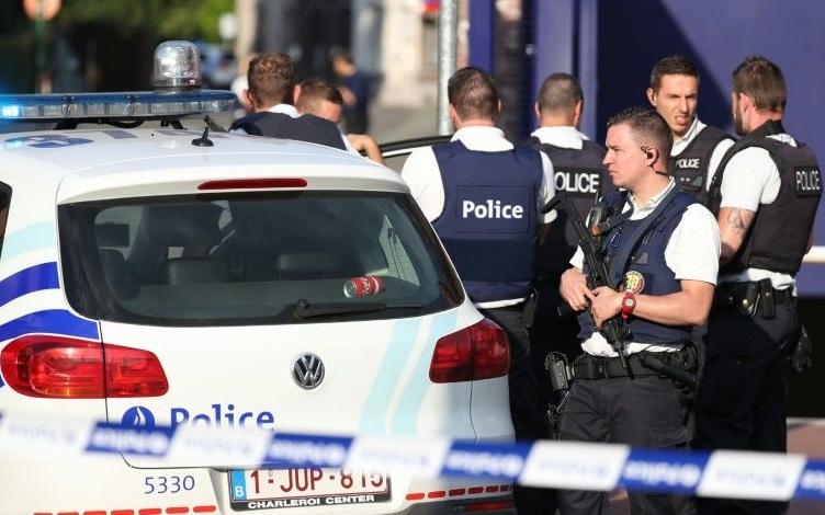 La police belge sécurise le lieu de l'attaque. D. R.