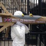 Manifestation en Grande-Bretagne contre la fourniture d'armes à l'Arabie Saoudite. D. R.
