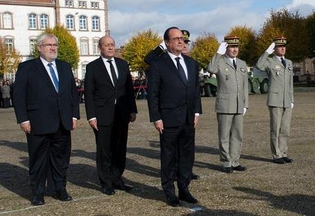 François Hollande lors de la journée d'hommage aux harkis. D. R.