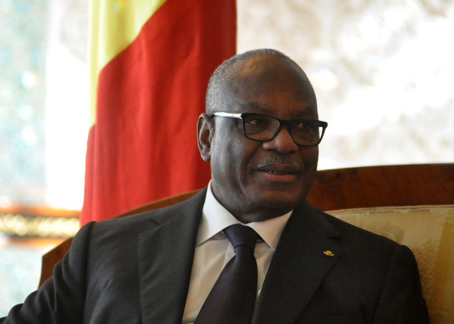 Le président Ibrahim Boubacar Keita à Alger en mars 2015. New Press