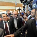 Le ministres algérien et iranien. New Press