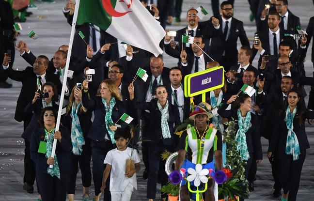 La délégation algérienne à Rio. D. R.