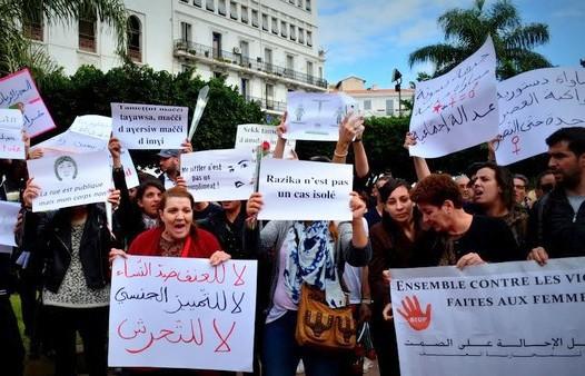 Un précédent rassemblement contre les violences faites aux femmes à Alger. D. R.