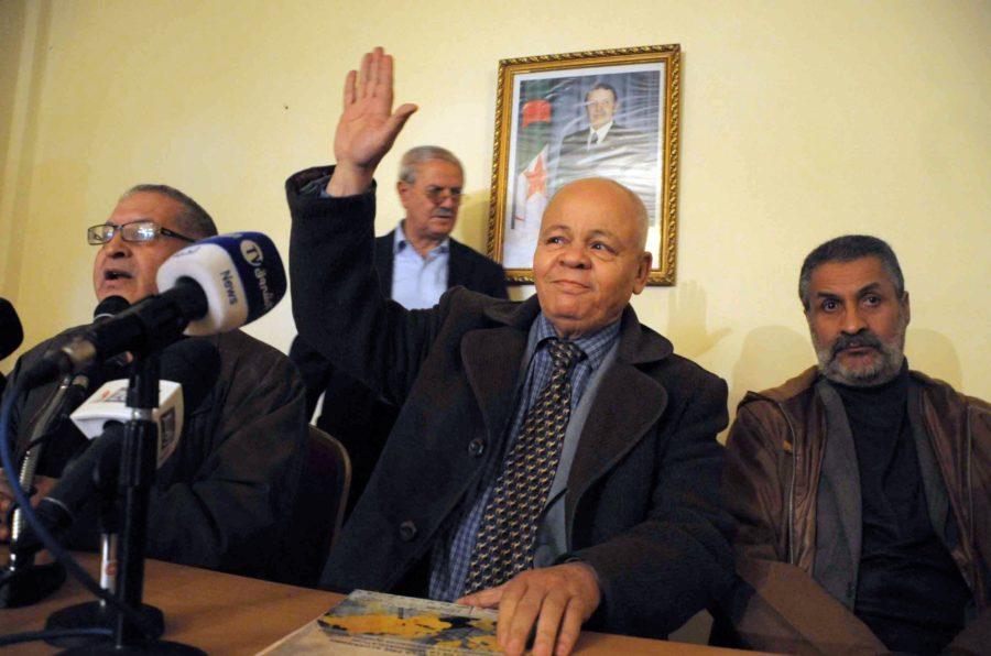 Abderrahmane Belayat, lors d'une conférence de presse en février 2014. New Press