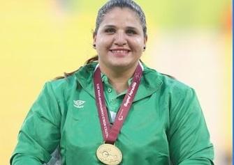 Nassima Saifi a offert à l'Algérie sa 2e médaille d'or. D. R.