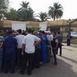Rassemblement de citoyens de Ouargla devant le siège de la Sonelgaz. D. R.