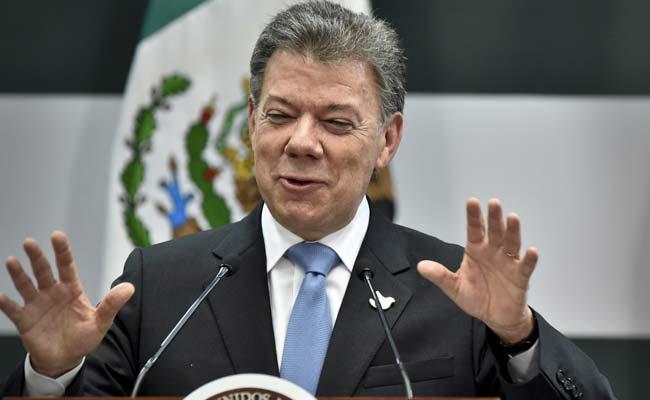 Le président colombien Juan Manuel Santos. D. R.