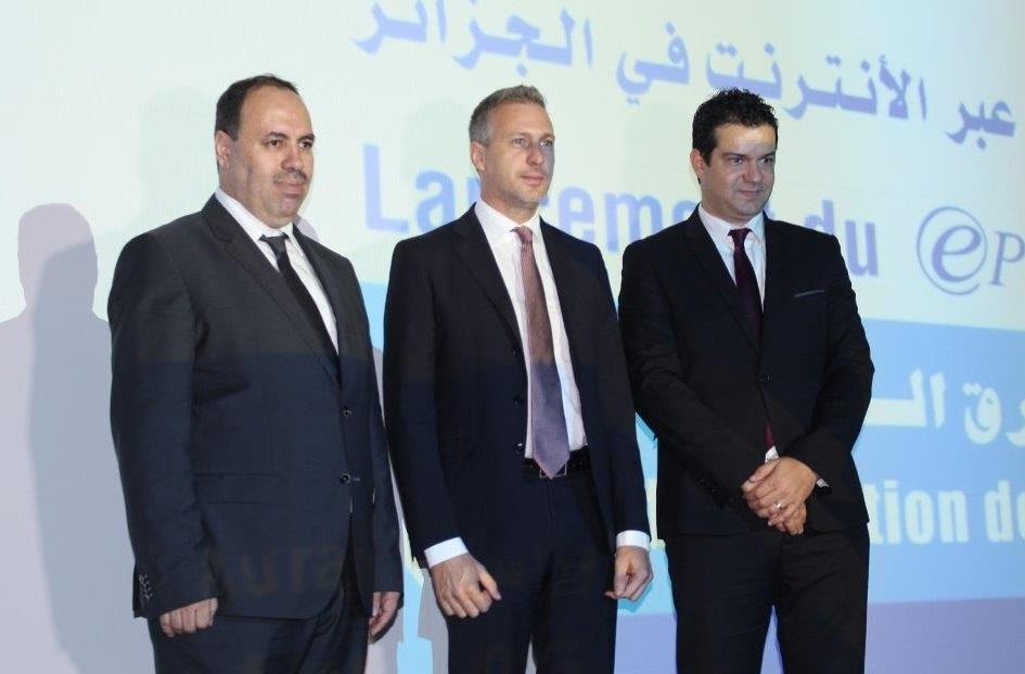 Lors du lancement officiel du paiement électronique, ce mardi, à Alger. D. R.
