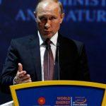Le président russe, lors de son allocution au Congrès mondial de  l'énergie. D. R.