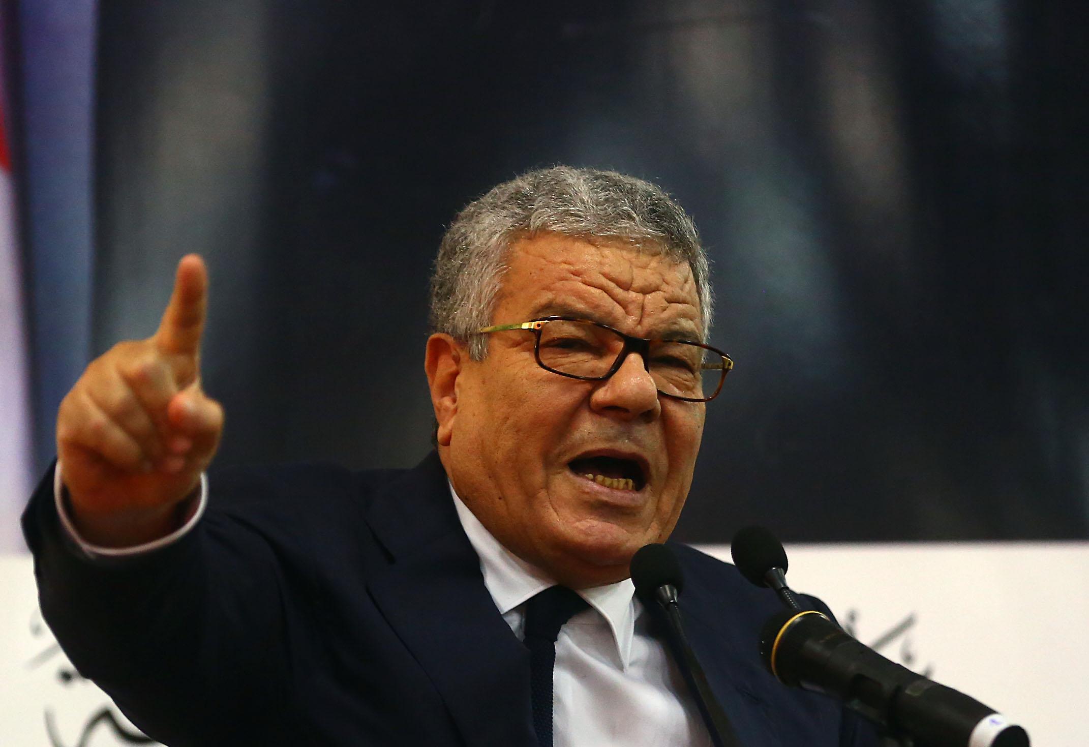 Amar Saïdani, lors de son discours devant les mouhafedhs, aujourd'hui. New Press