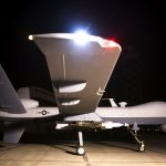 Un drone tueur de l'armée de l'air américaine. New Press