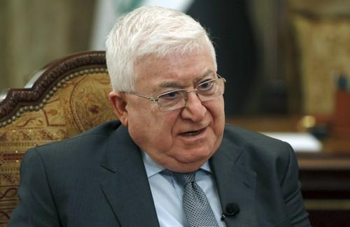 Le président irakien, Fouad Massoum. D. R.