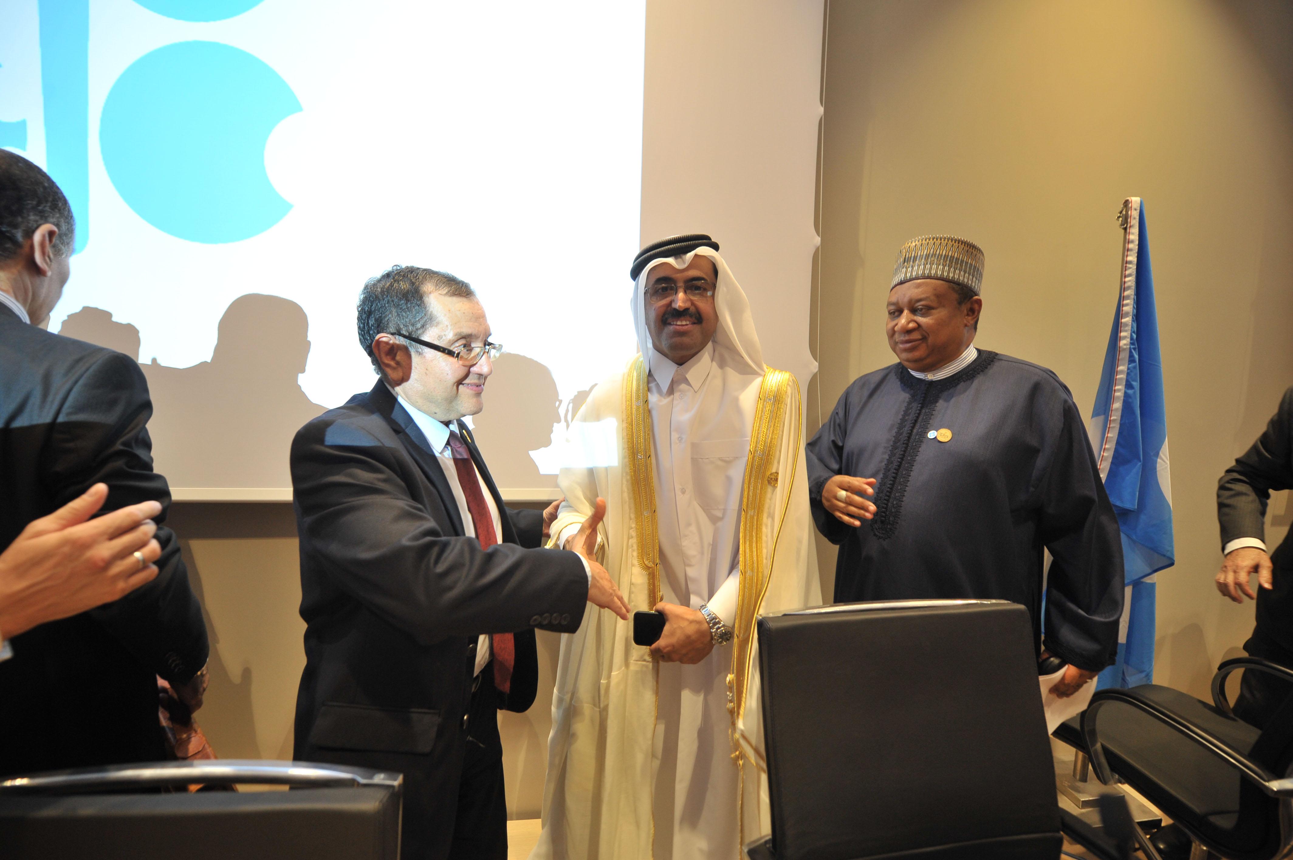 Lors de la dernière réunion de l'Opep à Alger. New Press