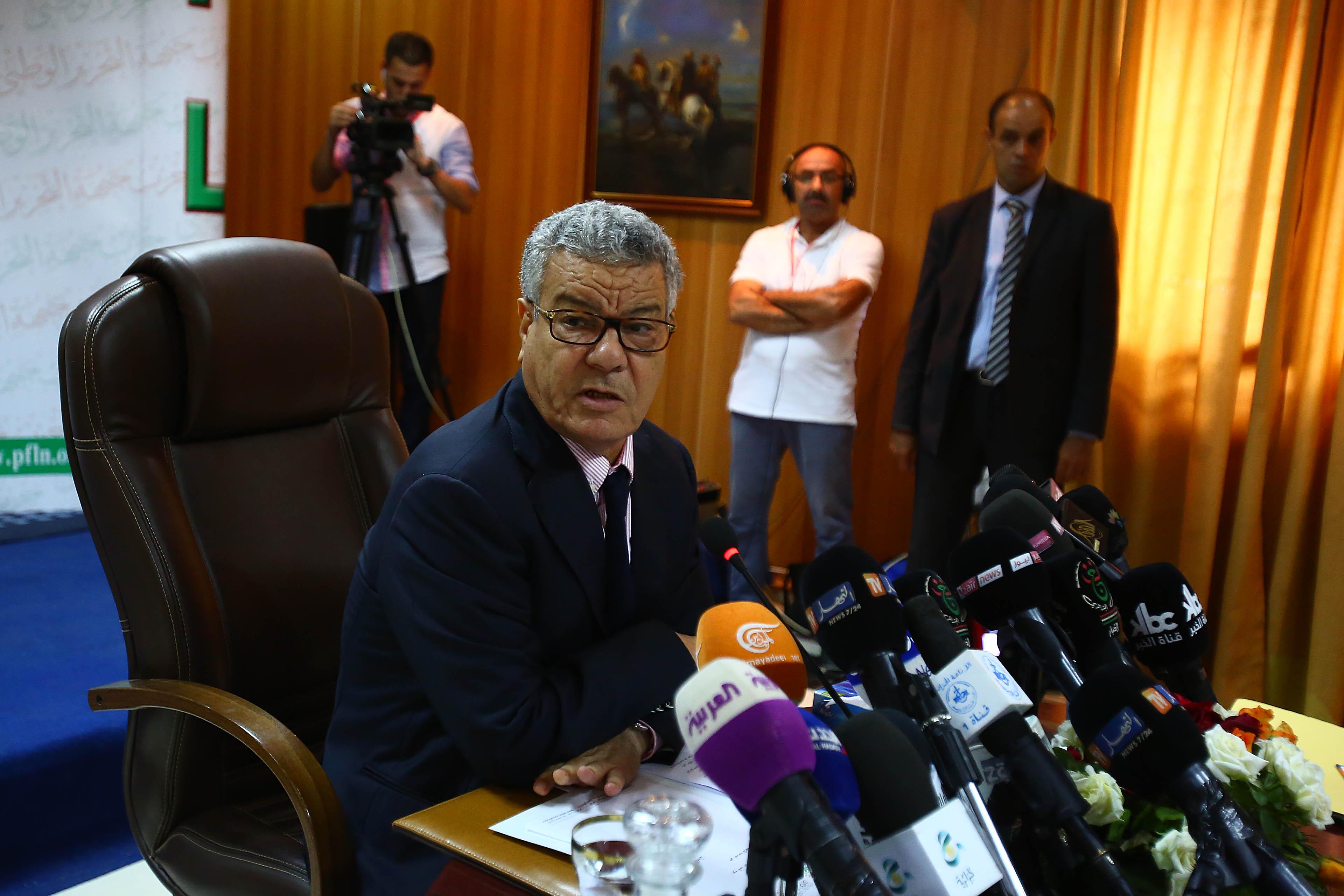 Amar Saïdani, lors du point de presse qu'il a animé aujourd'hui. New Press