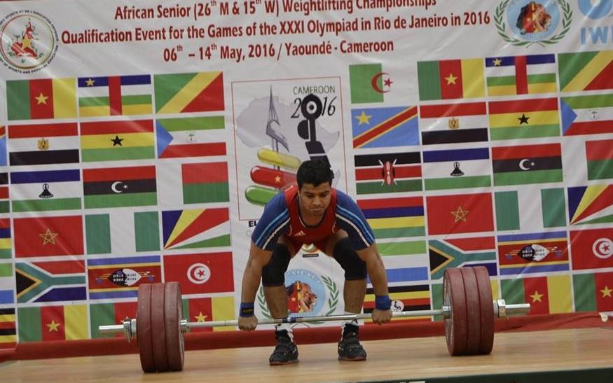La dernière participation de Fardjallah aux championnats d'Afrique. D. R.