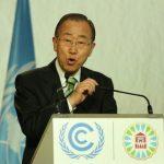 Ban Ki-moon à Marrakech. D. R.