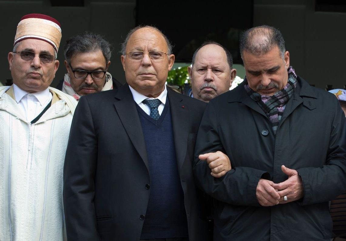 Pour Dalil Boubakeur (au centre), Malek Chebel était très proche de la Mosquée de Paris. D. R.