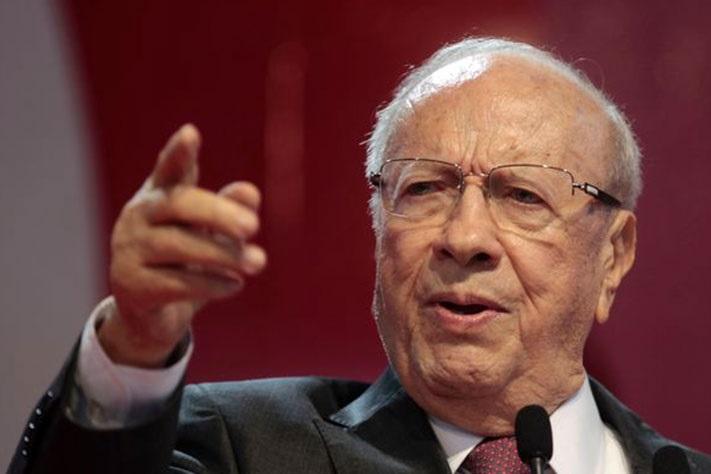 Le président Béji Caïd Sebsi. D. R.