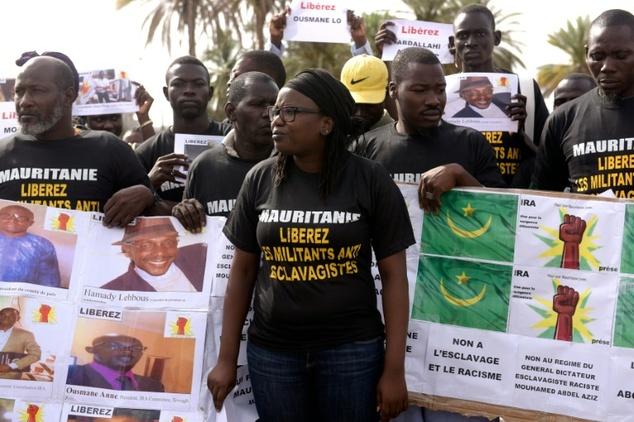 Une manifestation contre l'esclavagisme et le racisme en Mauritanie. D. R.