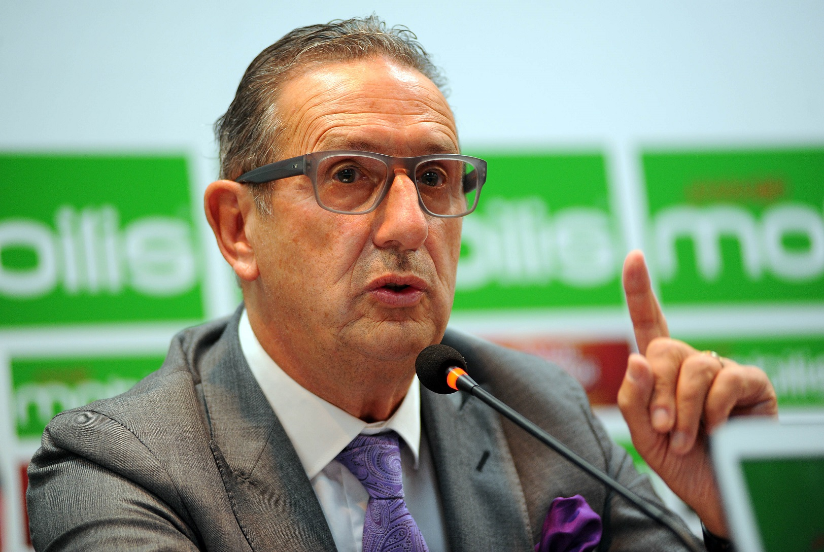 Georges Leekens lors de la conférence de presse. New Press