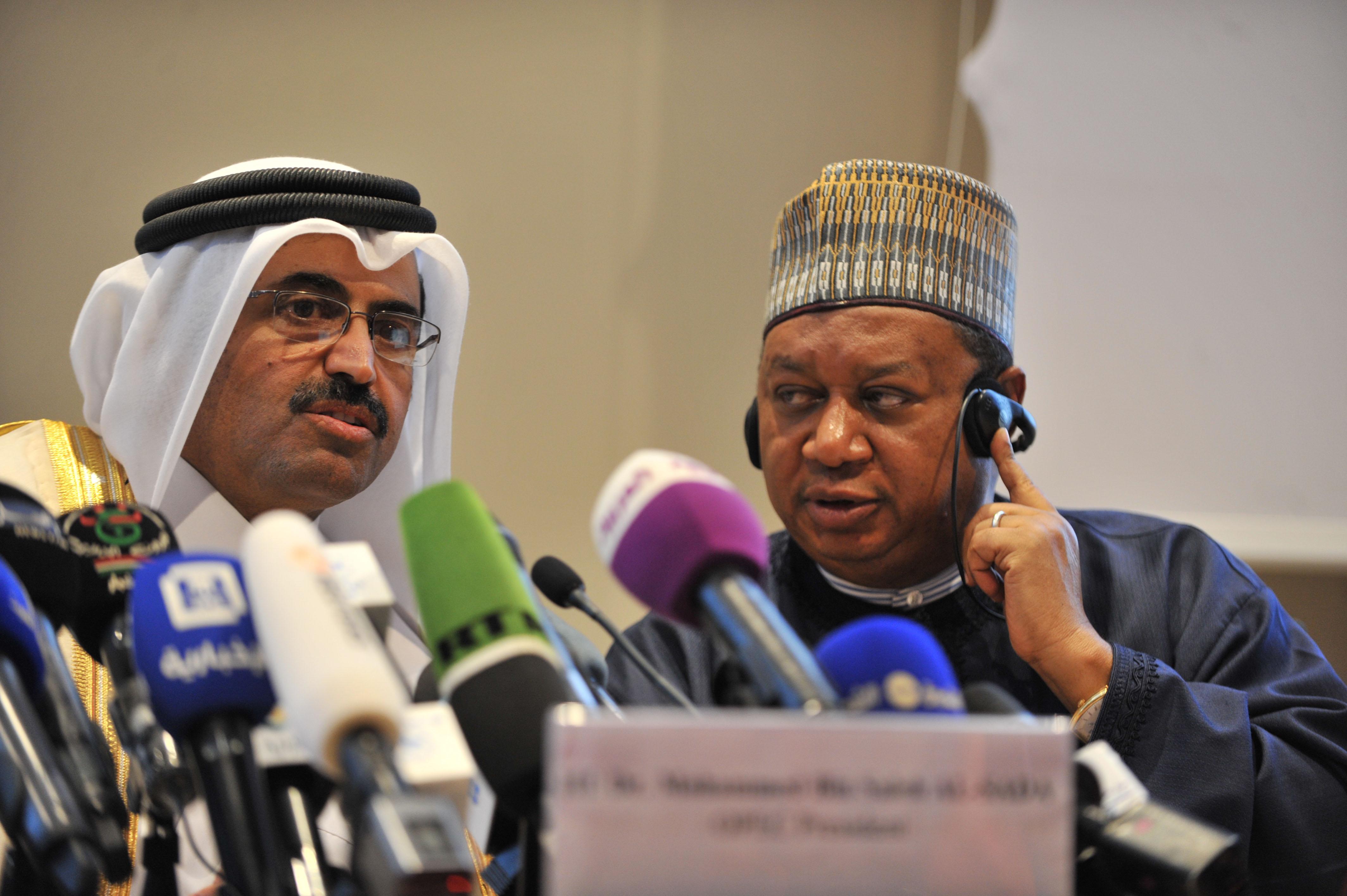 Lors de la réunion de l'Opep à Alger, le 28 septembre dernier. New Press