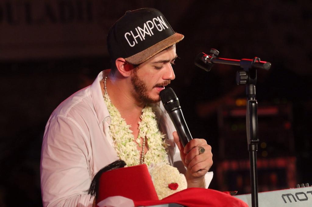 Le chanteur Saad Lamjarred. D. R.